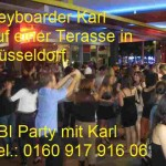 Abi Party in Düsseldorf mit Keyboarder Karl