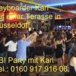 Abi Party in Düsseldorf mit Keyboarder Karl
