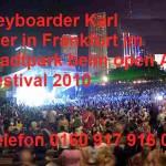 Open Air Party mit Alleinunterhalter Keyboarder karl aus Bergheim, hier in Frankfurt