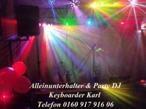 Alleinunterhalter NRW Party Musik mit Keyboarder Karl mit Party Band bergheim und Live DJ Musik