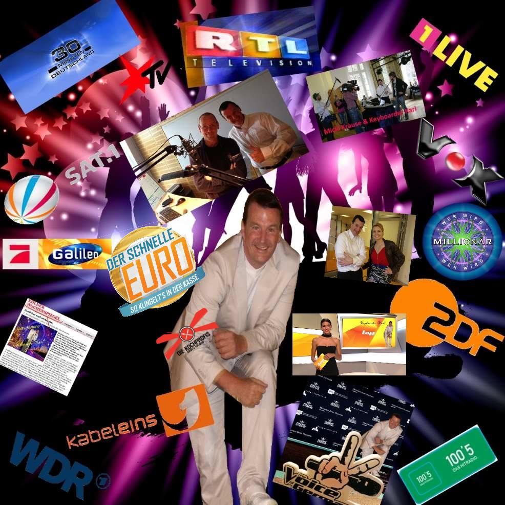 Keyboarder Karl Entertainment arbeitet mit vielen TV Sendern und den Medien zusammen